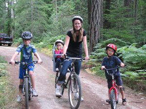Family ride on Old Loop